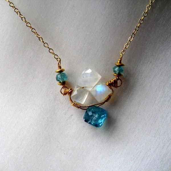 Dream Apatite and Moonstone Necklace