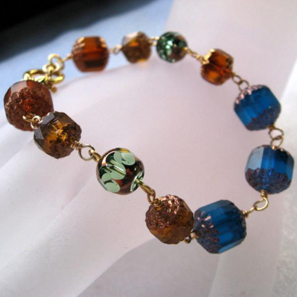 Multicolor Czech Glass Bracelets