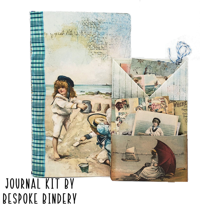 A Day at the Beach Journal Kit: Comes with an 80 page premade journal and