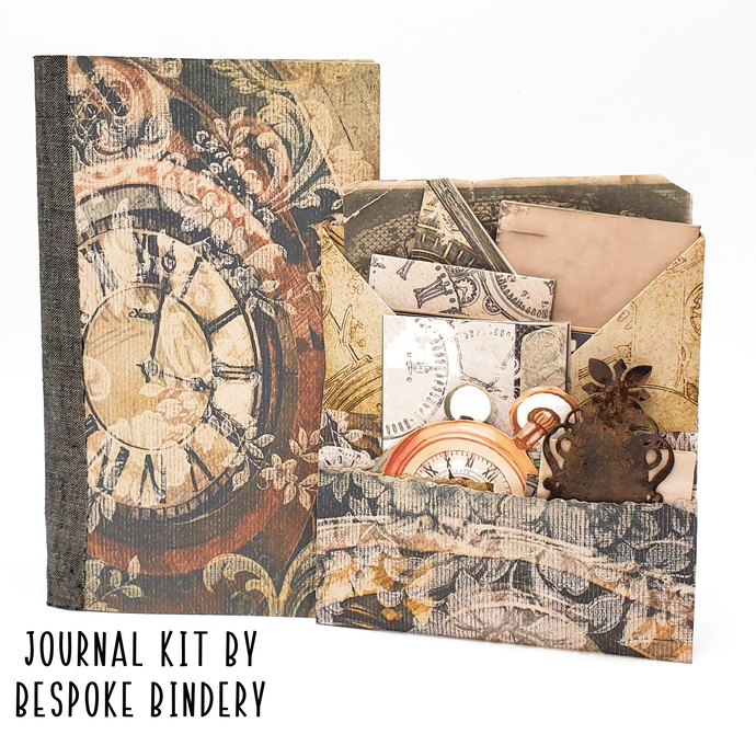 Time Keepers Journal Kit: Comes with an 80 page premade journal and ephemera