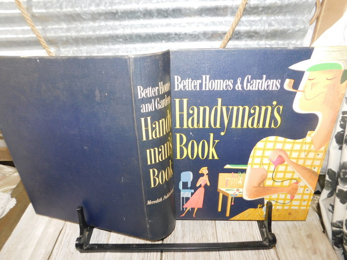 Better Homes and Gardens Handyman's Book Ring-bound 1957, Vintage Handy Man