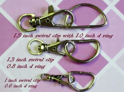 40 Nickel Plated Lobster Swivel Clasps - 1 INCH