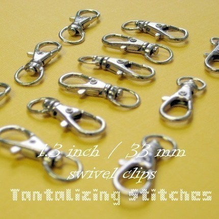 595 Nickel Plated Lobster Swivel Clips - 1.3 INCH
