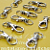 40 Nickel Plated Lobster Swivel Clasps - 1.3 INCH