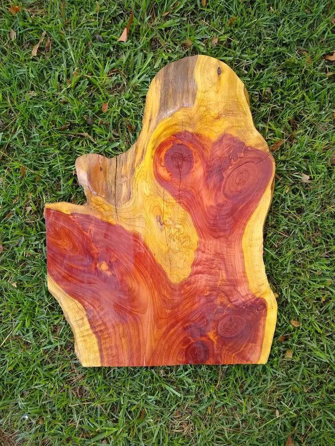 Custom red cedar sign