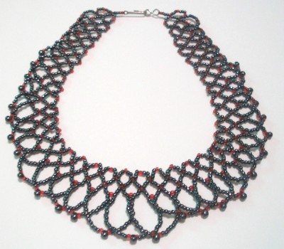 Black & Red Netted Choker
