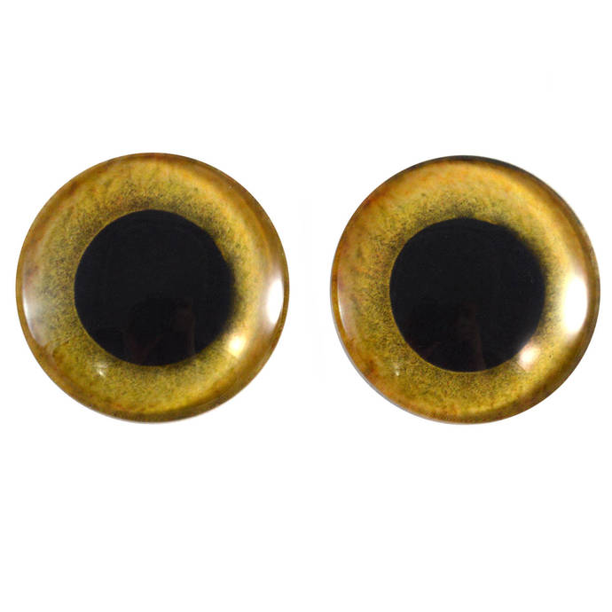 Yellow Owl Glass Eyes - Pick Your Size - for Jewelry Making, Art Dolls,