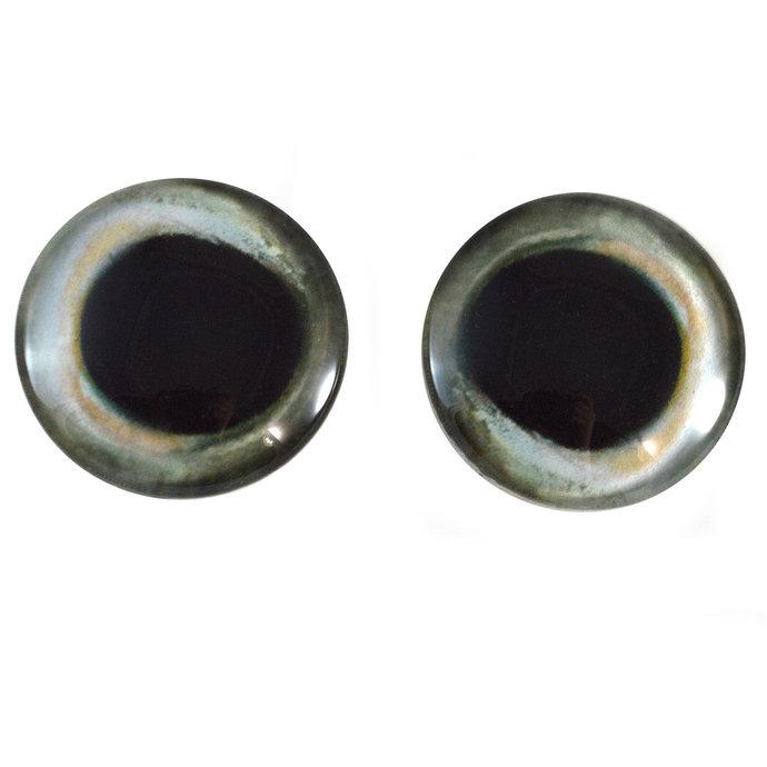 Skipjack Tuna Fish Glass Eyes - Pick Your Size for Jewelry Making, Art Dolls,