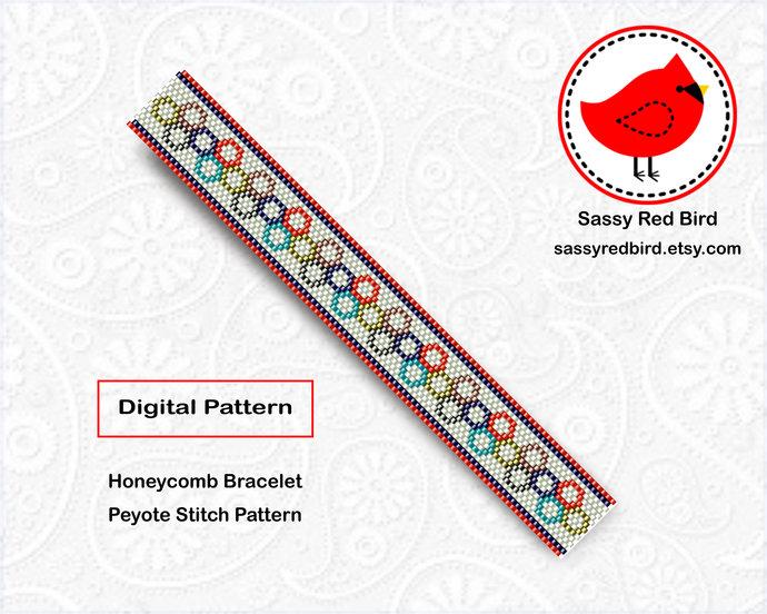 Peyote Stitch - Honeycomb Bracelet Pattern