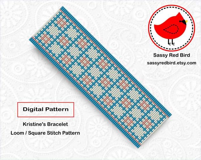 Loom / Square Stitch - Kristine's Bracelet Pattern