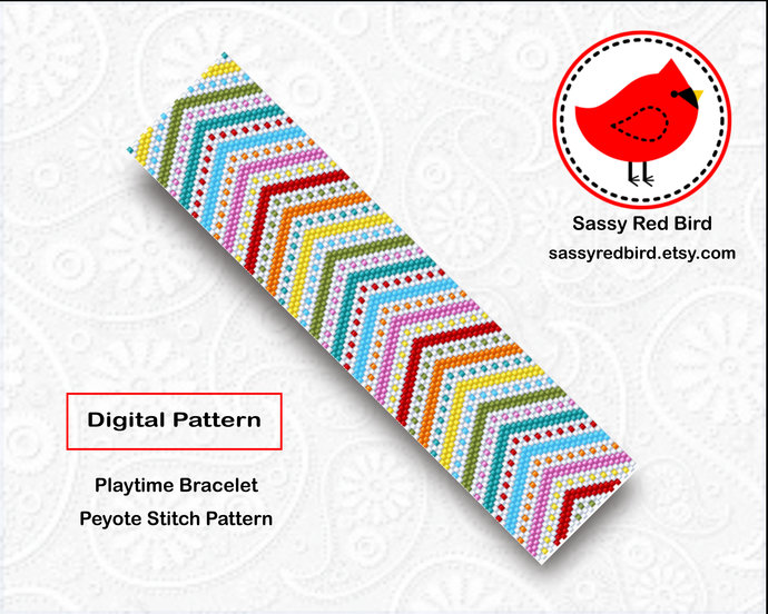Peyote Stitch - Playtime Bracelet Pattern