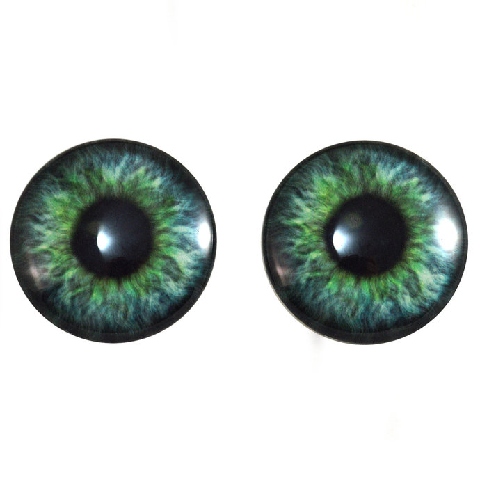 Teal Green Fantasy Human Glass Eyes Sizes 6mm - 40mm Jewelry Real Art Dolls