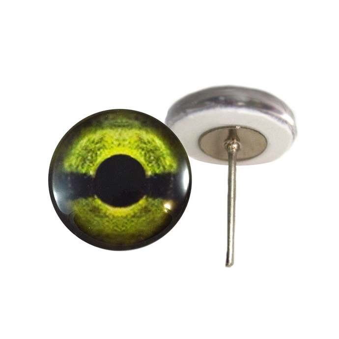 Sea Turtle Green Glass Eyes On Wire Pin Posts for Needle Felting Doll Making