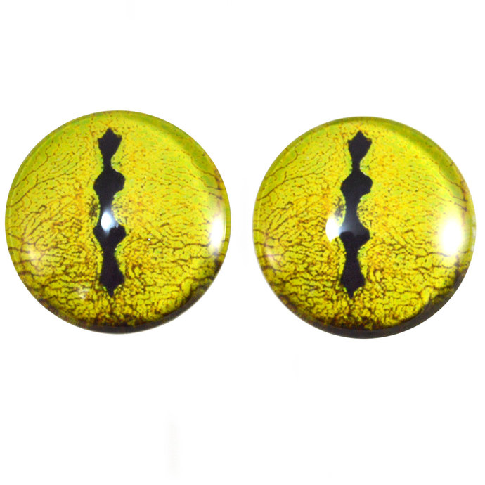 Yellow Snake Handmade Glass Eyes 6mm to 40mm Jewelry Cabochon Art Doll Taxidermy