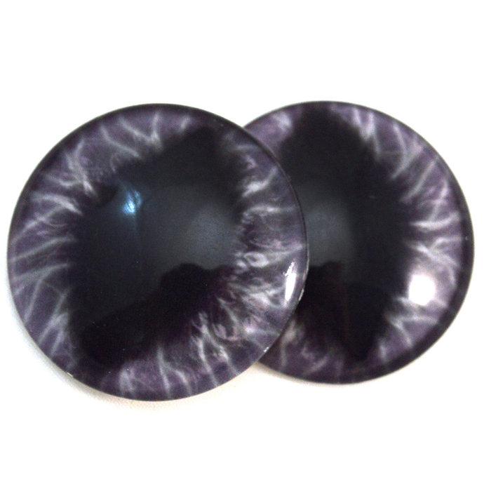 Wide Dark Purple Dragon Glass Eyes - Pick Your Size - Jewelry Making Art Dolls