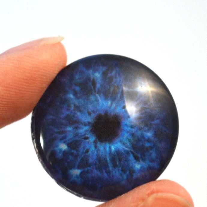 Winter Zombie Dark Blue Glass Eyes 6mm 8mm 10mm 12mm 14mm 16mm 20mm 25mm 30mm