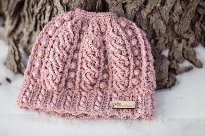 Avalanche Messy Bun Beanie  - Crocheted Ponytail Hat - Messy Bun Hat - Ponytail