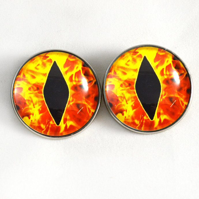 30mm or 16mm Fire Flames Dragon Button Eyes Sew On Shank Loops Stuffed Animal