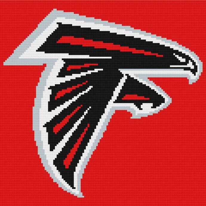 Atlanta Falcons Corner to Corner Crochet Pattern Graphghan Afghan Mini C2C NFL