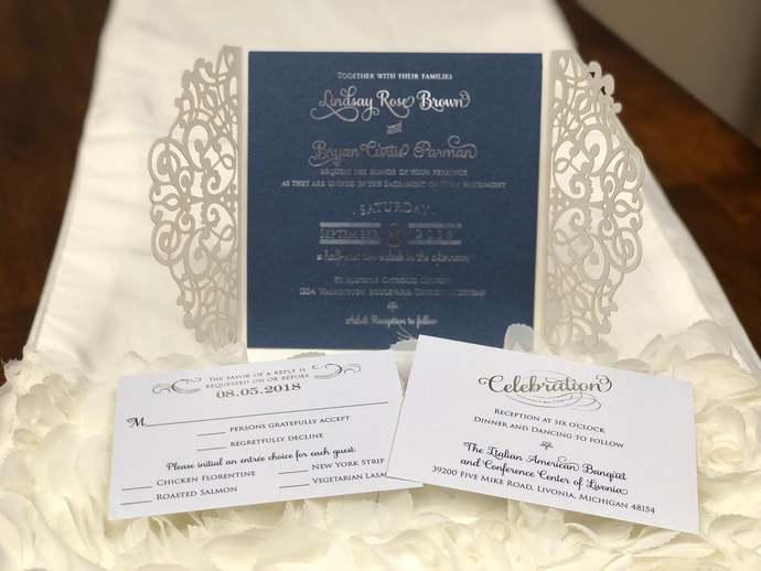 More Colors Gorgeous Laser Cut Lace Wedding Invitations Square Die Cut Laser Cut