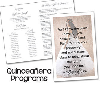 "Quinceanera Programs Sweet 15 Programs Mis Quince Anos Programs 8.5"" X 11"""