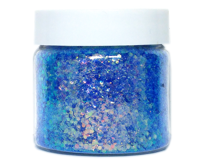 Rapture - Blue Color Shifting, Loose Cosmetic & Craft Chunky Glitter Mix