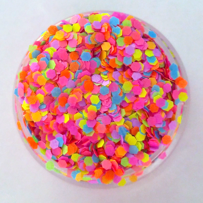 Totally 80's - Neon Matte, Loose Cosmetic & Craft Chunky Glitter Mix