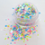 Groove Is In The Heart - Neon Matte and White Iridescent, Loose Cosmetic & Craft