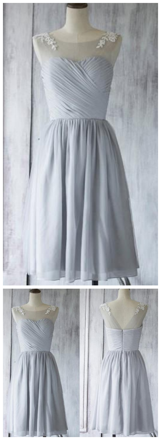 Sleeveless Backless A Line Prom Dresses Short Homecoming Dresses With Lace