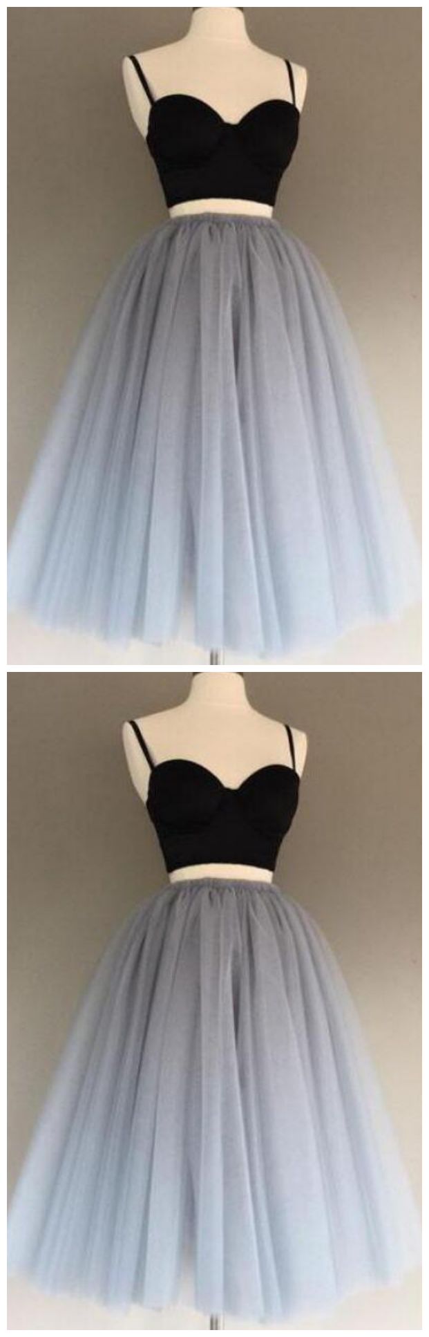 Sexy Two Pieces Sleeveless A Line Prom Dresses Short Homecoming Dresses