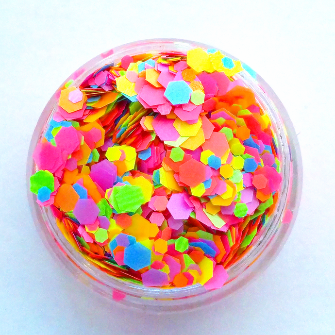 Black Light Party - Neon Matte, Loose Cosmetic & Craft Chunky Glitter Mix