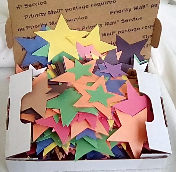 Grab a Box of Color Stars-Random Mix Die Cut Hearts-Party-Construction