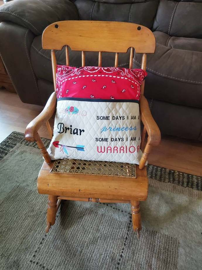 Princess or Warrior Reading Book Pillow, Birthday gift for Girl, Reading Pillow,