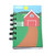 Recycled Mini Farm Spiral Bound Notebook-Total of 1 Notebooks.