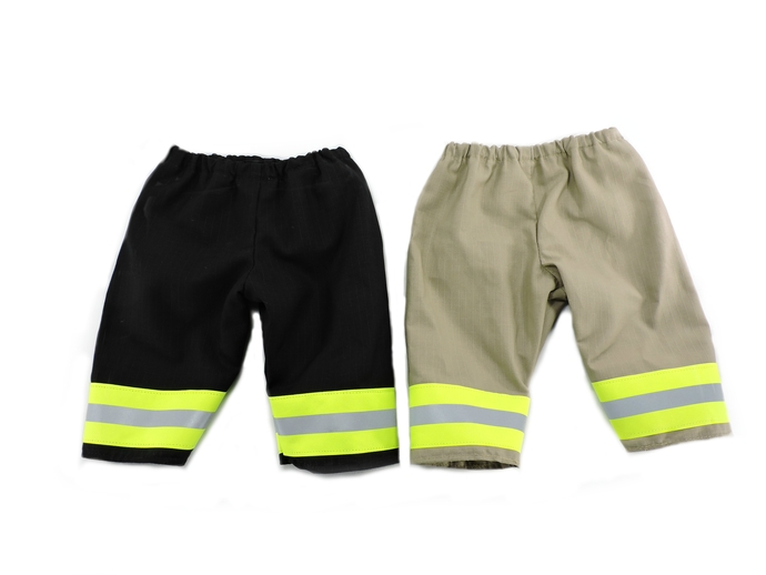 Firefighter Baby or Toddler Pants, Halloween Costume, Bunker Turnout gear look,