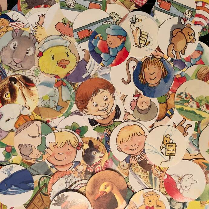 Classic Children's Storybook Table Scatter ~ Children's Birthday Party Confetti