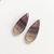 Flourite Gemstone Cabochon Pear Cut Pair 28x12mm