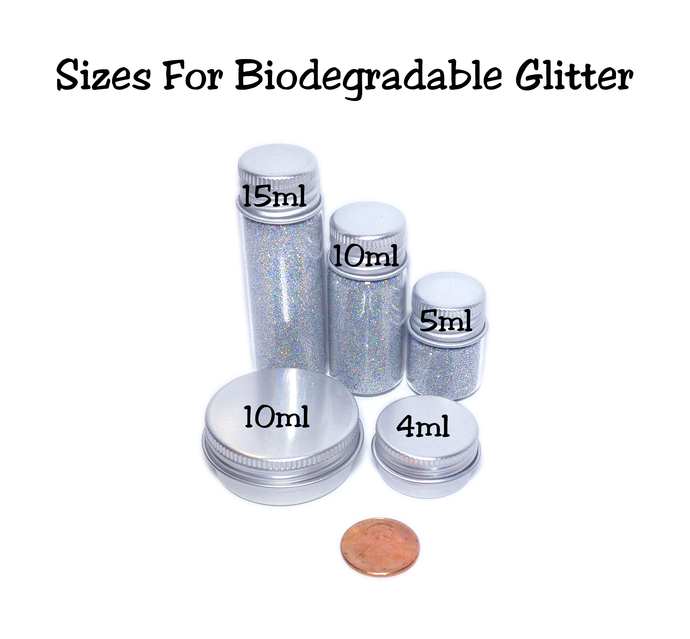 Eco Shine - Set of 8 Biodegradable Glitters - 5ml size
