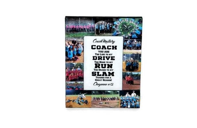 Coach Gift Photo Frame Collage Coaches Gift, Soccer Coach, Basketball Coach,