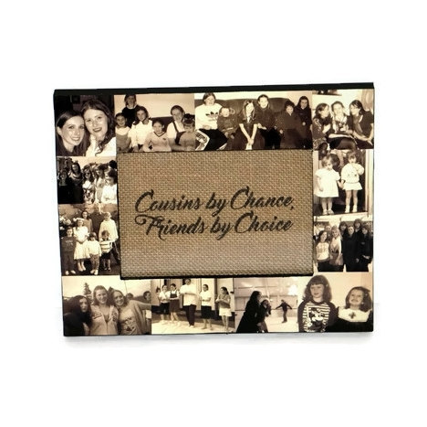 Personalized Gift Sister Cousin Picture Frame Custom Collage Maid of Honor Frame