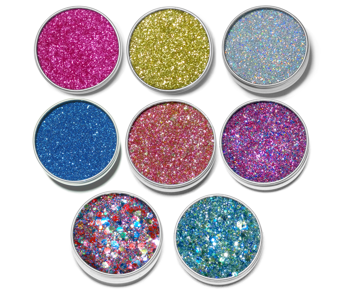 Eco Shine - Set of 8 Biodegradable Glitters - 10ml size