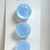 Frosted Glass Moonglow Button Light Blue 50's Buttons by Schwanda