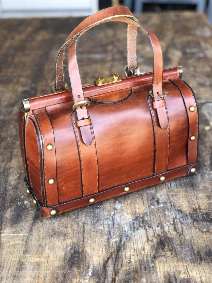 Vintage John Romain Leather Handbag