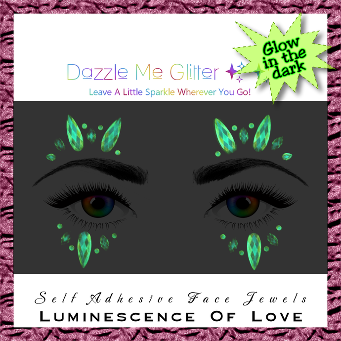 Luminescence Of Love - Glow in the dark, self adhesive face and body gems