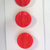 Red Glass Buttons 1950's  7027-8 Vintage Button