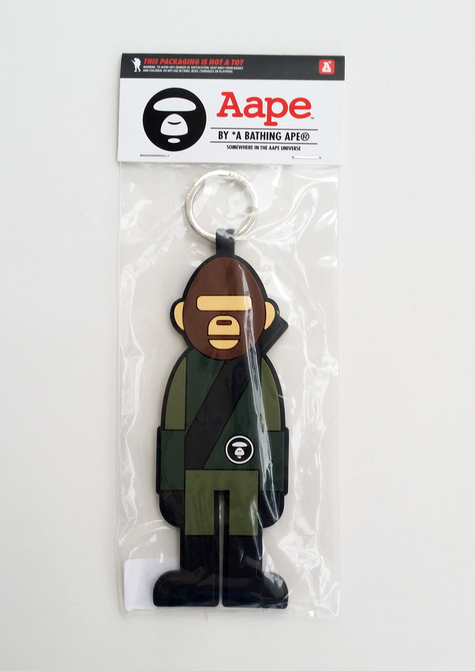 A BATHING APE Aape Soldier Keychain Key Ring / Bag Charm - Brand New