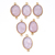 Rose Quartz Bazel Faceted Oval 24 k gold over sterling silver connectors