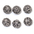 925 Sterling Silver Oxidized 13 mm Round Bohemian Bali Flower Beads