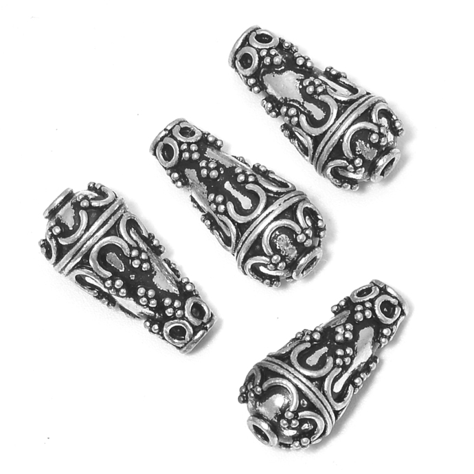925 Sterling Silver Handmade Antique Oxidized Strand Reducer Cone Beads