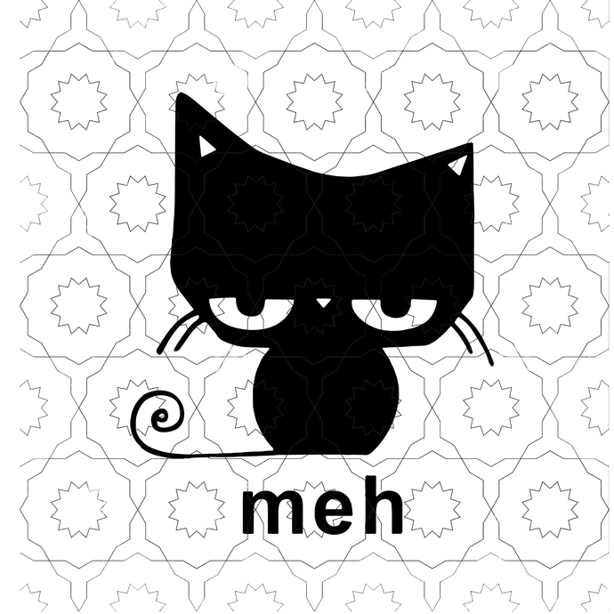 Cat meh sg, cat svg, meh, svg, png, dxf,eps file for Cricut, Silhouette